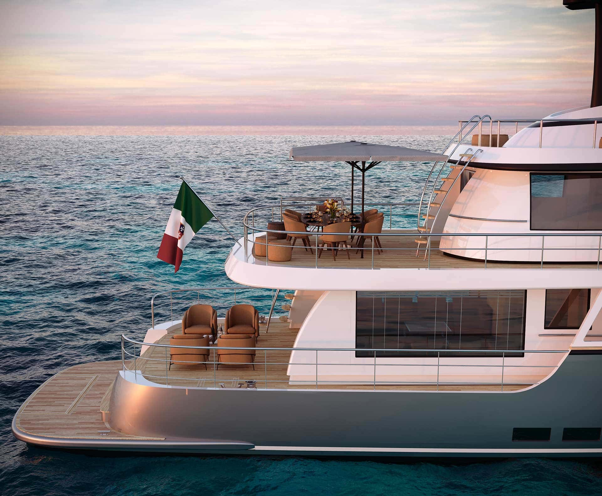 Dettaglio posteriore Terranova Yacht T90